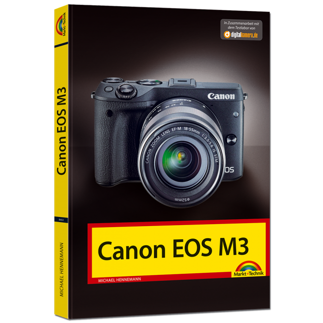 Das Cover des Kamerahandbuchs zur Canon EOS M3