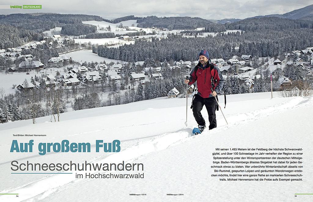 Auf großem Fuß - erschienen im Trekkingmagazin 01/2016