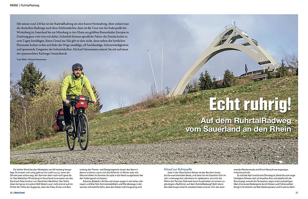 Echt ruhrig! - erschienen im Bike & Travel 04/2016