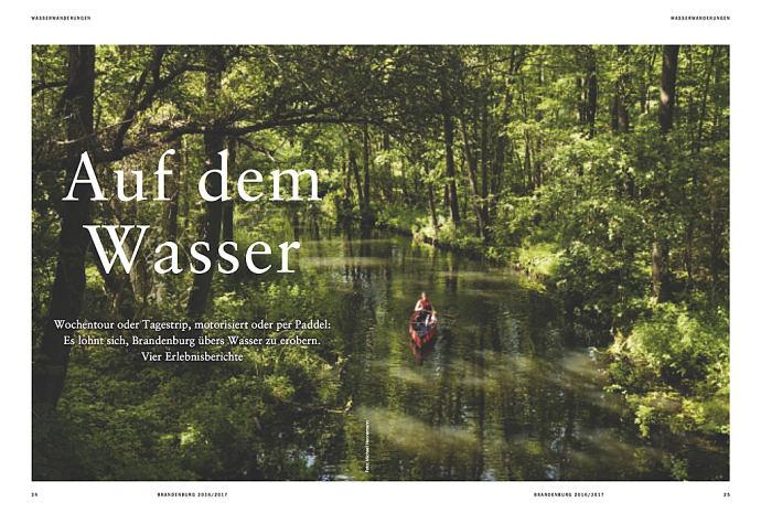Auf dem Wasser - erschienen in Zitty Edition Brandenburg 2016/2017