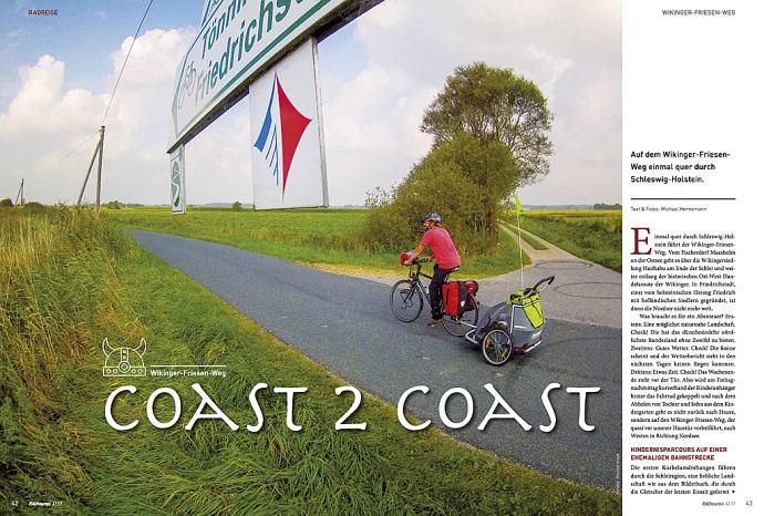 Coast 2 Coast - erschienen im RADtouren Magazin 04/2017