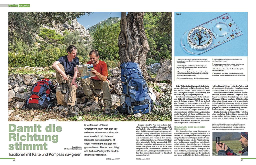 Damit die Richtung stimmt - erschienen in Trekkingmagazin 07/2017