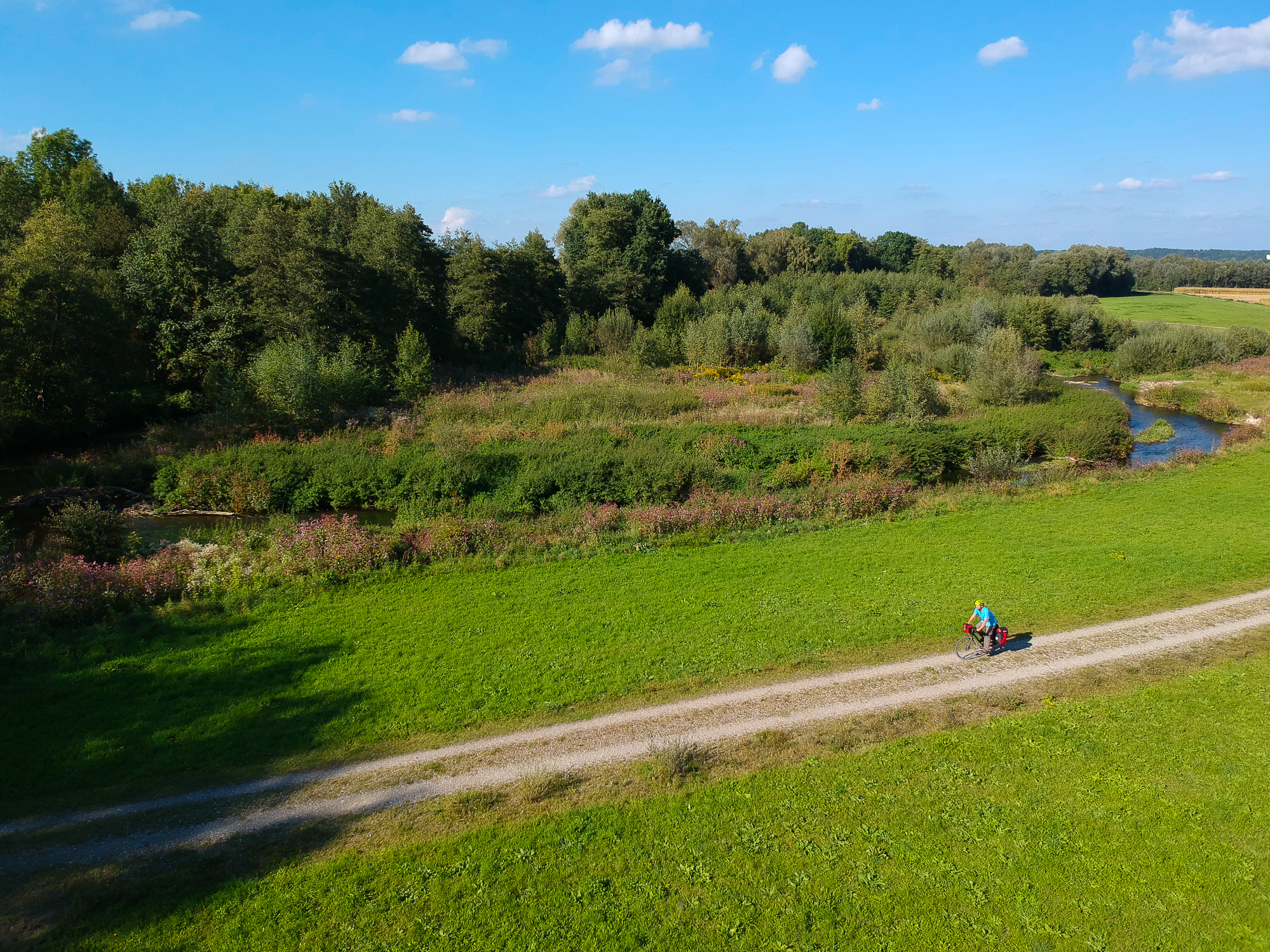 Die Mindel ist einer der zahlreichen Donaunebenflüsse