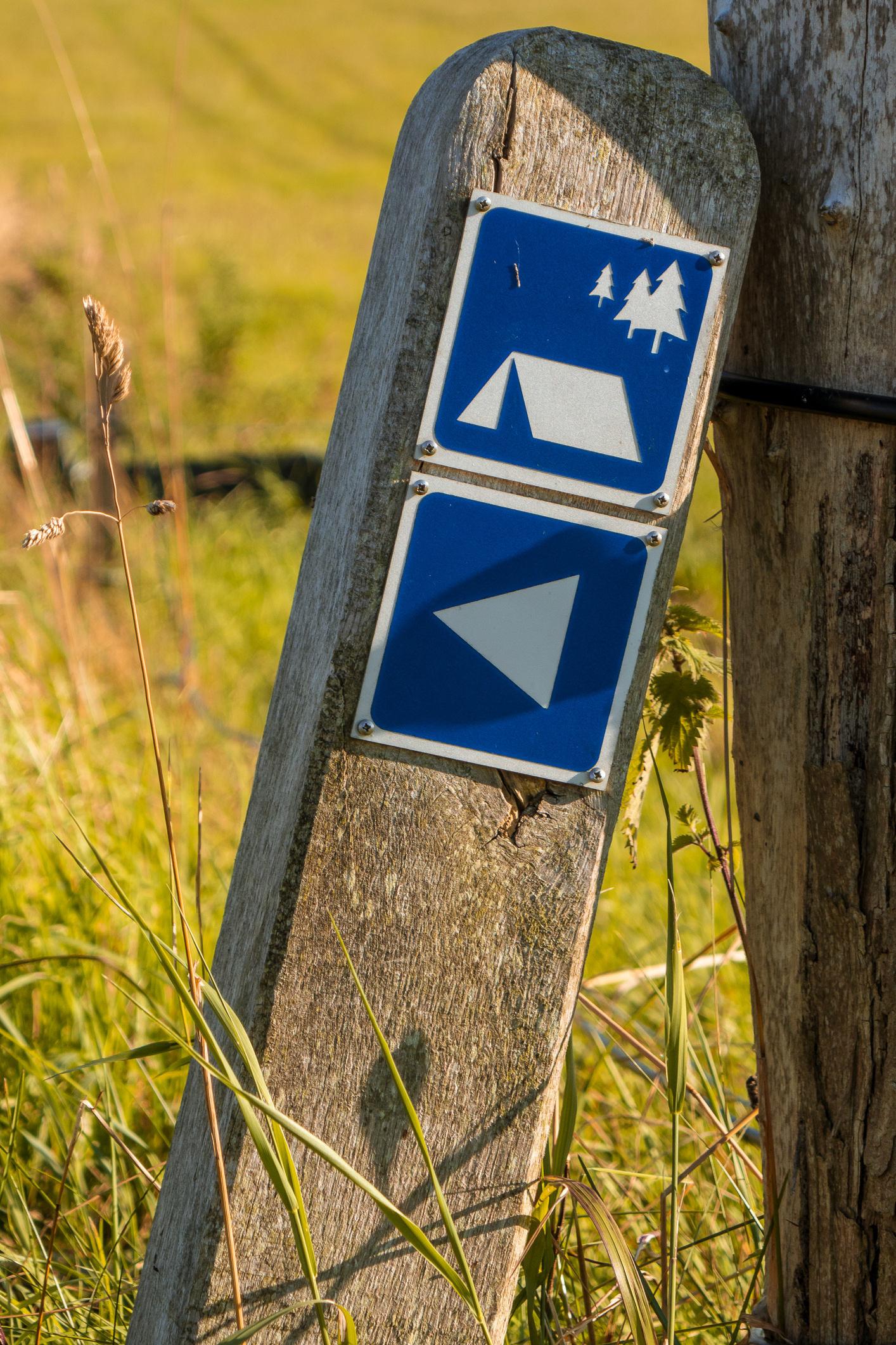 'Overnatning i det fri': Einfache Lagerplätze für Wanderer und Radfahrer