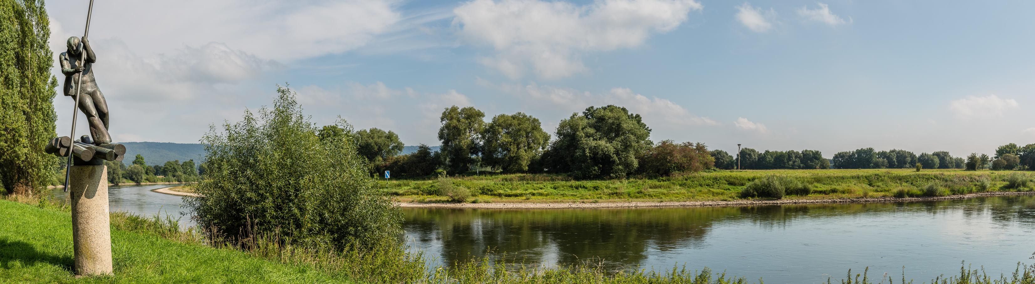 Flößerdenkmal an der Werre-Mündung in Bad Oeynhausen