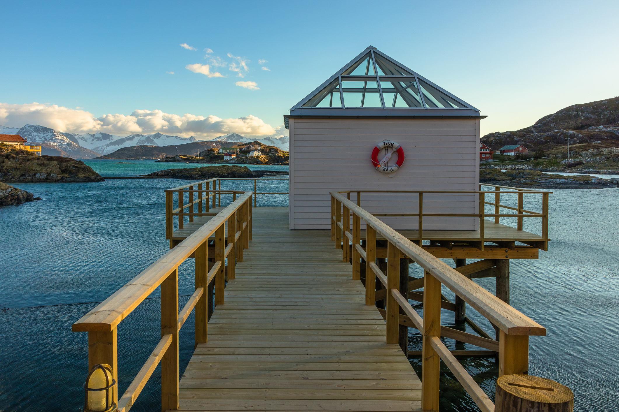 Im Sommarøy Arctic Hotel wurden ehemalige Fischerhäuser für Gäste umgebaut.