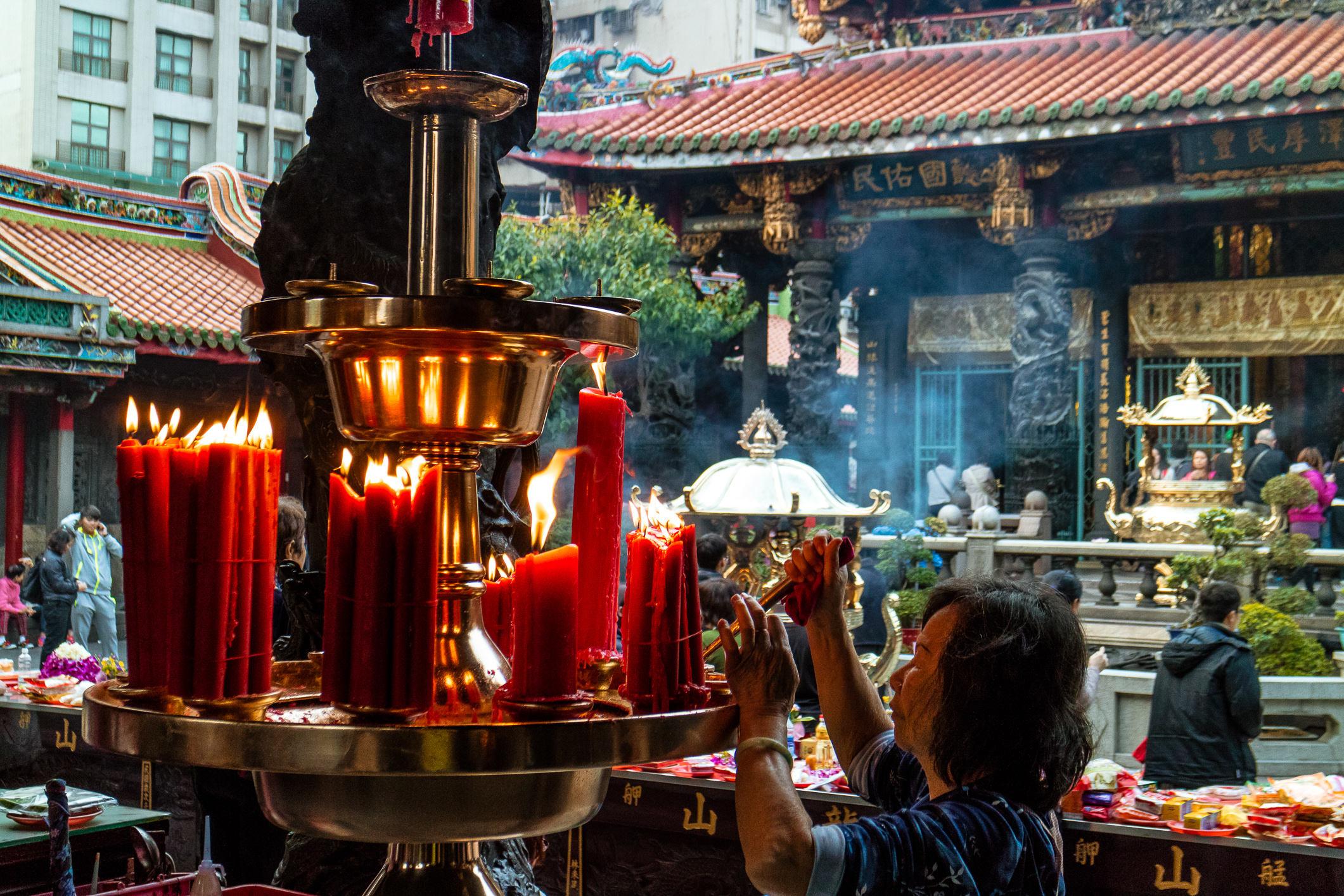 Buddhistischer Tempel in Taipei
